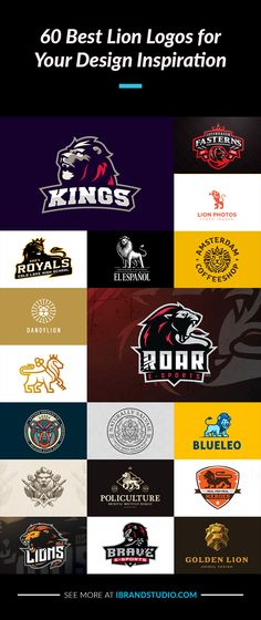 A great collection of #Lion Logos for Your Inspiration