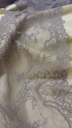 Purple stretch Lace Trim Chantilly Lace French Lace Bridal