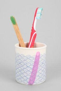 4040 Locust Contrast Stripe Short Toothbrush Holder