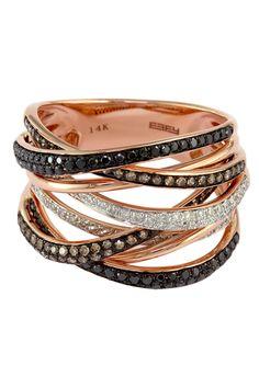 Confetti Multi-Band Diamond Ring - 0.74 ctw