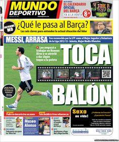 Los Titulares y Portadas de Noticias Destacadas Españolas del 3 de Diciembre de 2013 del Diario Mundo Deportivo ¿Que le pareció esta Portada de este Diario Español?