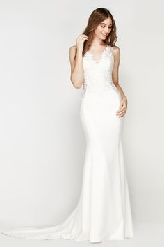 Shop designer bridal gowns like the Caracas Style 56451 dress by Willowby and other bridal accessories at Blush Bridal. V Neck Wedding Dress, Wedding Dress Styles, Bridal Dresses, Wedding Gowns, Bridesmaid Dresses, Lace Wedding, Mermaid Wedding, Dream Wedding, Civil Wedding