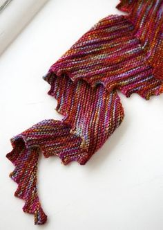 Hitchhiker by Martina Behm. A great shawl for the beginner knitter!