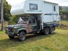 Land Rover 6x6 slide off camper
