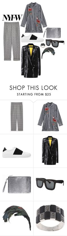 """""""NYFW 2017 - checkered"""" by perpetto ❤ liked on Polyvore featuring Givenchy, Grey Ant, Yves Saint Laurent and Glitzy Rocks"""