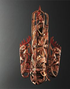 Mask used for Removing Taboos, Melanesia, Papua New Guinea. Bismarck Archipelago, northern New Ireland