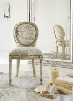 French Script Accent, Desk or Dining Chair