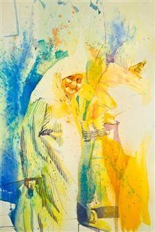 "Concha Osuna, ""Acuarelas 1"" | Watercolor on Paper | $4,500 | Source: http://www.art-mine.com/artistpage/concha_osuna.aspx | Agora Gallery | Contemporary Fine Art | NYC, NY."