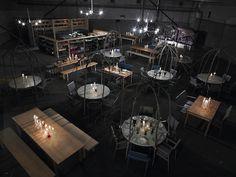 Gorgeously Dark Pop-Up Restaurant pics) - My Modern Metropolis: