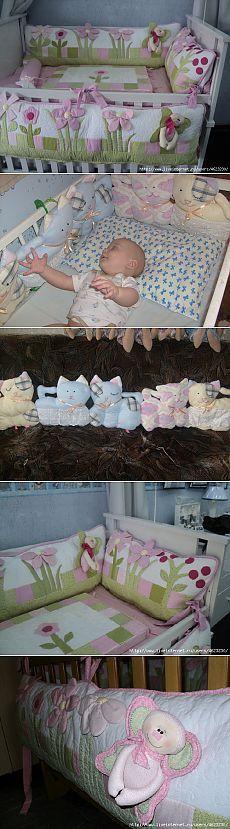Бортики для кроватки.