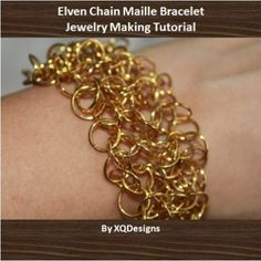 Elven Chain Maille Bracelet Jewelry Making Tutorial T114 jump rings: http://www.ecrafty.com/c-201-jump-rings-split-rings.aspx