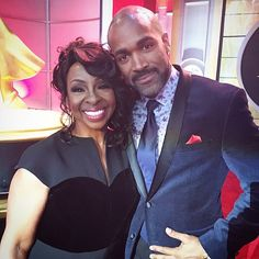 #Emmy #2017 night with the #beautiful and #talented @msgladysknight. She presented @generalhospitalabc with the #best #drama award👌🏾. #love
