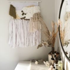 Bespoke Weaving - Rise again // Woven with cotton, wool and gold thread. Weaving Wall Hanging, Tapestry Weaving, Bespoke, Stitching, Traditional, Wool, Wall Art, Cotton, Handmade