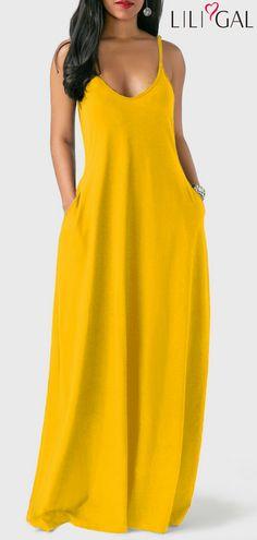 Sleeveless Open Back Ginger Maxi Dress #liligal #dresses #womenswear #womensfashion