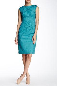 Adrianna Papell Origami Sheath Dress