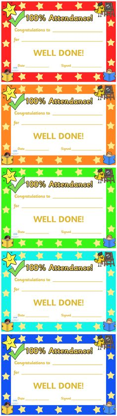 Certificate Template for Kids-Free Printable Certificate Templates - free printable perfect attendance certificate template