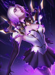 Elementalist Lux Transformation (dark) by Zarory HD Hình nền Phóng Fan Artwork League of Legends lol