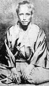 Katsu would be responsible for convincing the final Tokugawa Shogun to surrender… Japanese Haiku, Japanese History, Japanese Culture, Japanese Art, Samurai Weapons, Samurai Warrior, Taisho Period, Edo Period, Boshin War