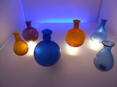 ampoules balm, Roman glass, glass display case, National Archaeological Museum, Adria