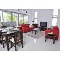 NIXON 13pce Package Deal $2199  7pce Dinning Suite, Coffee Table, Lamp table, Entertainment Unit, Buffet, Sofa Pair  SUPER AMART