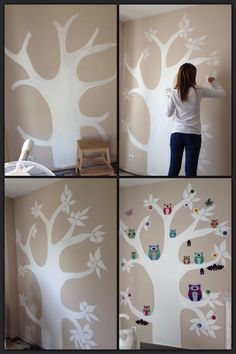 Pieza ni os on pinterest pintura ideas para and tela for Habitaciones infantiles pinterest