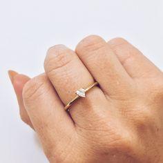 White Topaz & Brass Tyler Ring