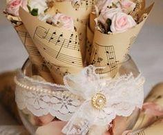 music paper decorations