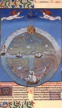 11th -  14th century T O Map of the Earth