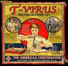 T-Virus Bio-Engineering Set courtesy of The Umbrella Corporation