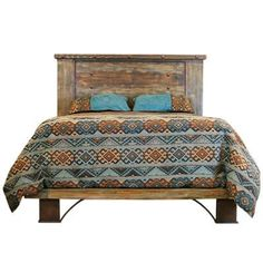 """CAM801QUEEN in by L.M.T. Rustic and Western Imports in Denison, TX - Queen : 68"""" x 86"""" x 59"""" Urban Rustic Platform Bed"""