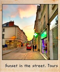 Sunset in the street. Tours