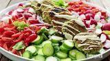 How to Make Falafel Salad with Lemon-Tahini Dressing - EatingWell.com