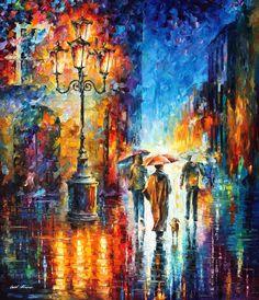 RAIN IMPRESSION - PALETTE KNIFE Oil Painting On Canvas By Leonid Afremov http://afremov.com/RAIN-IMPRESSION-PALETTE-KNIFE-Oil-Painting-On-Canvas-By-Leonid-Afremov-Size-36-x30.html?bid=1&partner=20921&utm_medium=/vpin&utm_campaign=v-ADD-YOUR&utm_source=s-vpin