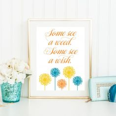 A printable reminder to look on the sunny side of life. Free to download, print and display!