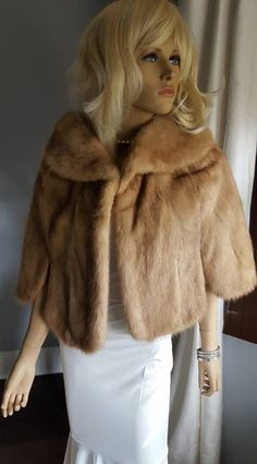 af1aec574bf Luxury Vintage Mink Fur Stole - Real Fur Mink Cape - Bridal Shawl - Wedding  Jacket - Fur Shrug - Mink Bolero - Capelet - Bridesmaid Fur Wrap