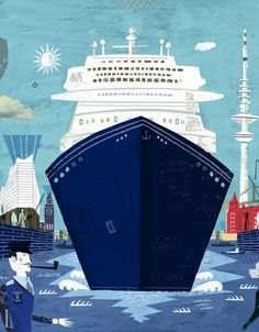 Cruise Ship Illustration by Martin Haake.