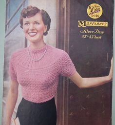Knitting Pattern Vintage 1940s 1950s Womens by sewmuchfrippery, $12.00