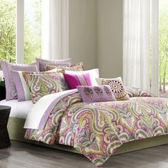 Love this Vineyard Paisley Bedding Set by JLA Home on Echo Bedding, Paisley Bedding, Queen Comforter Sets, Duvet Sets, Duvet Cover Sets, Queen Duvet, Comforter Cover, King Duvet, Paisley Bedroom