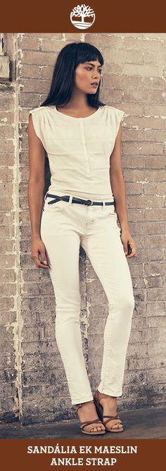 Sandália Ek Maeslin Ankle Strap, perfeita para quem ama o verão e não abre mão do conforto e da elegância.