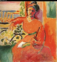 matisse woman in front of a window
