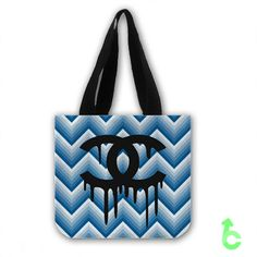 #Chanel #Zigzag #Blue #Chevron #Pattern #Tote #Bags #totebag #handbag #accessories #fashion #canvas #custom #woman #shopping #marketbag #present #giftidea #birthday #newhot #lowprice #unique #design