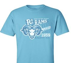 High School Impressions search HS-138-W; Fearless Rams Spirit Wear T-Shirts- Create your own design for t-shirts, hoodies, sweatshirts. Choose your Text, Ink and Garment Colors.