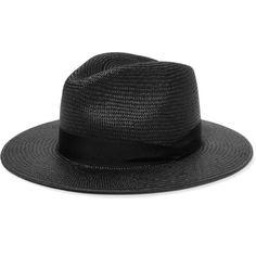 rag & bone - Straw Panama Hat ($97) ❤ liked on Polyvore featuring accessories, hats, black, panama straw hat, rag bone hat, panama hat and straw hats