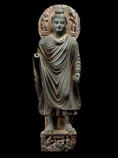 Carlton Rochell Asian Art Buddha Sakyamuni Gandhara 3rd century
