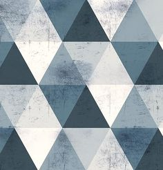 Geometrics by Tektura Studio : METAL TRIANGLES Silver- Tektura Wallcoverings