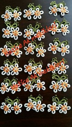 Flowers Needle Tatting, Tatting Lace, Needle Lace, Tatting Patterns, Lace Making, Simple Art, Flower Designs, Diy And Crafts, Embroidery