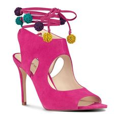 Nine West Maya Open Toe Sandals ($80) ❤ liked on Polyvore featuring shoes, sandals, strap sandals, multi colored sandals, high heel sandals, sexy sandals and multi color sandals