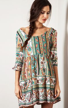 Green With Envy Gypsy Smock
