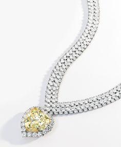 1b8c8e46c333 Fancy Intense Yellow Diamond carats) and Diamond Pendant Necklace by Van  Cleef   Arpels