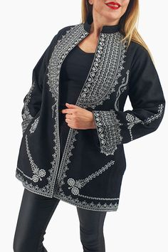 Sacou traditional Caliope 7 E Commerce, Tunic Tops, Traditional, Women, Fashion, Embroidery, Moda, Ecommerce, Fashion Styles